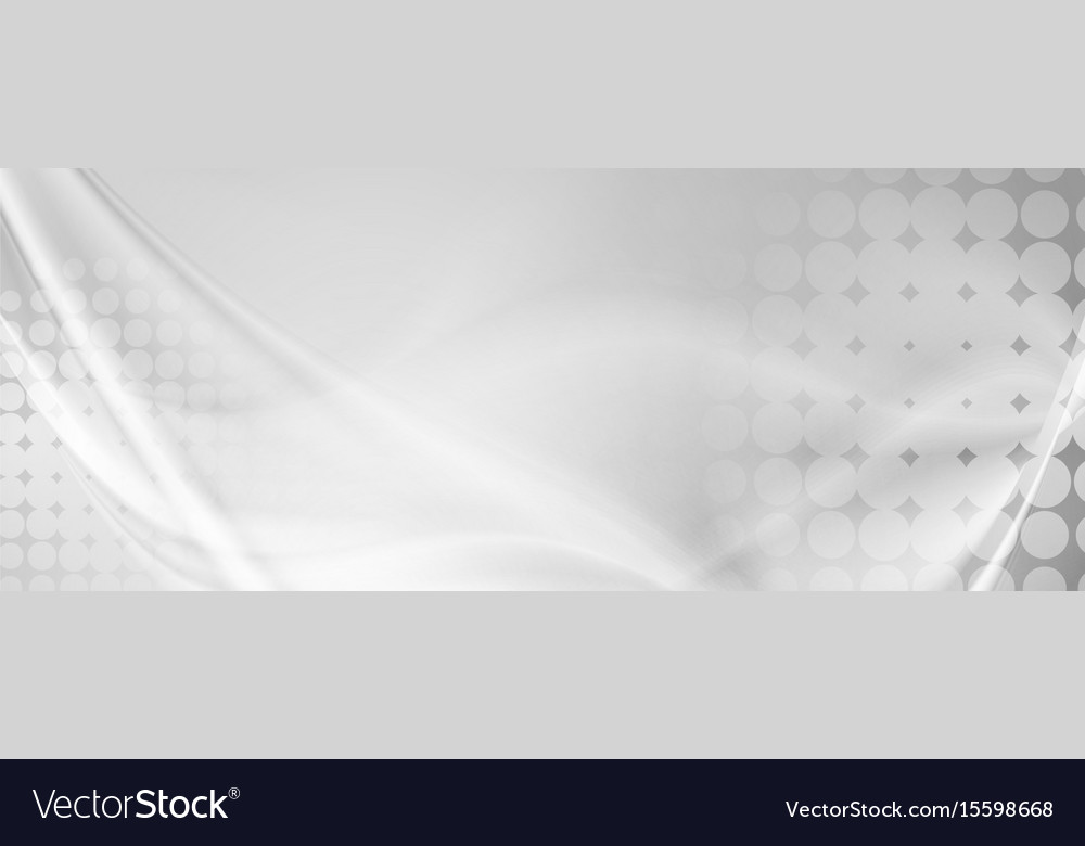 Light grey abstract wavy grunge banner vector image
