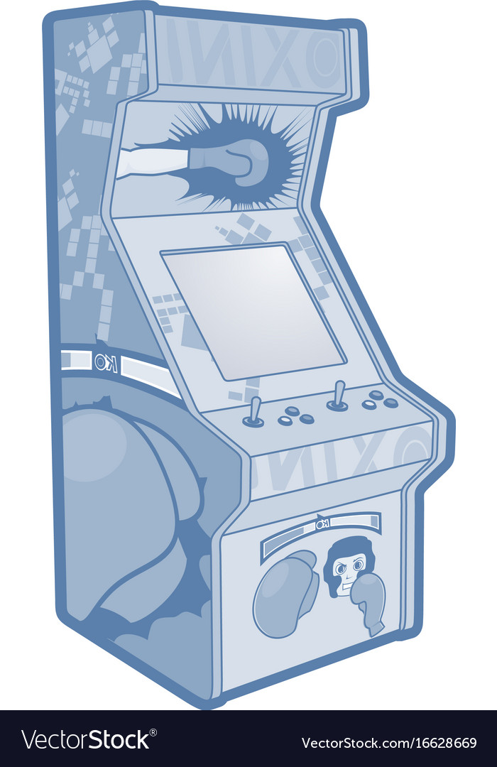 Game machine vector image