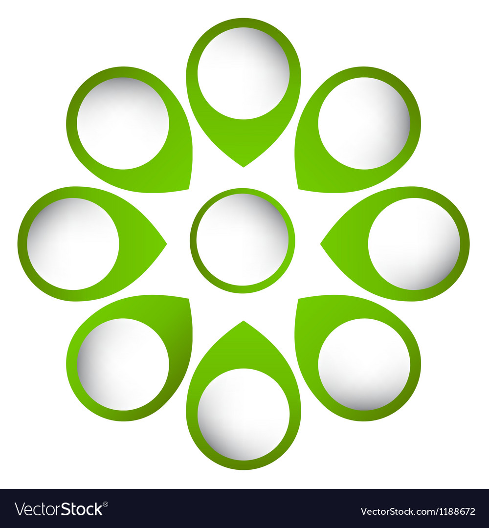 Concept of colorful circular banners with arrows vector image