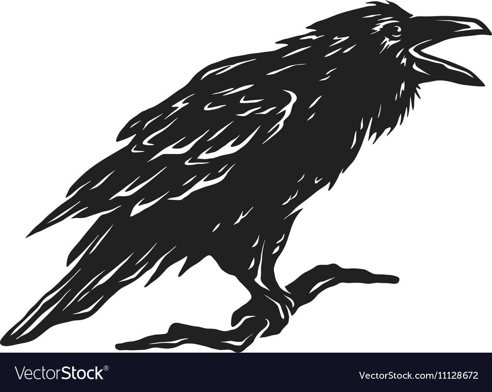Screaming black crows vector image