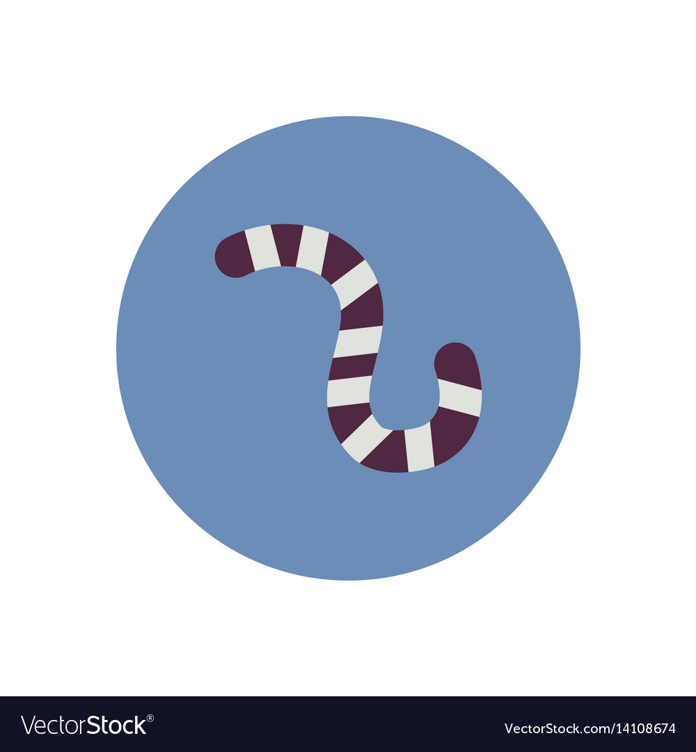 Stylish icon in color circle insect caterpillar