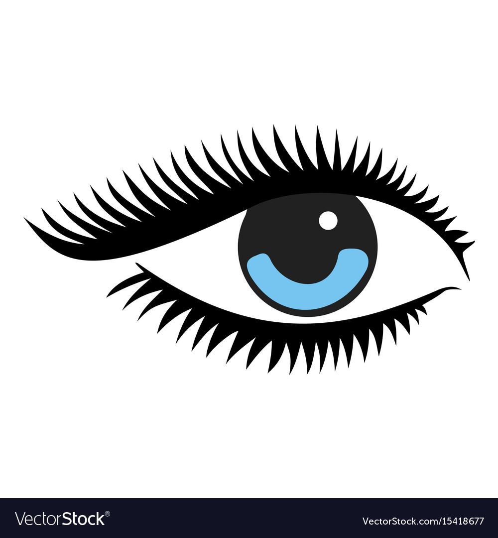 Beautiful woman blue eye vector image