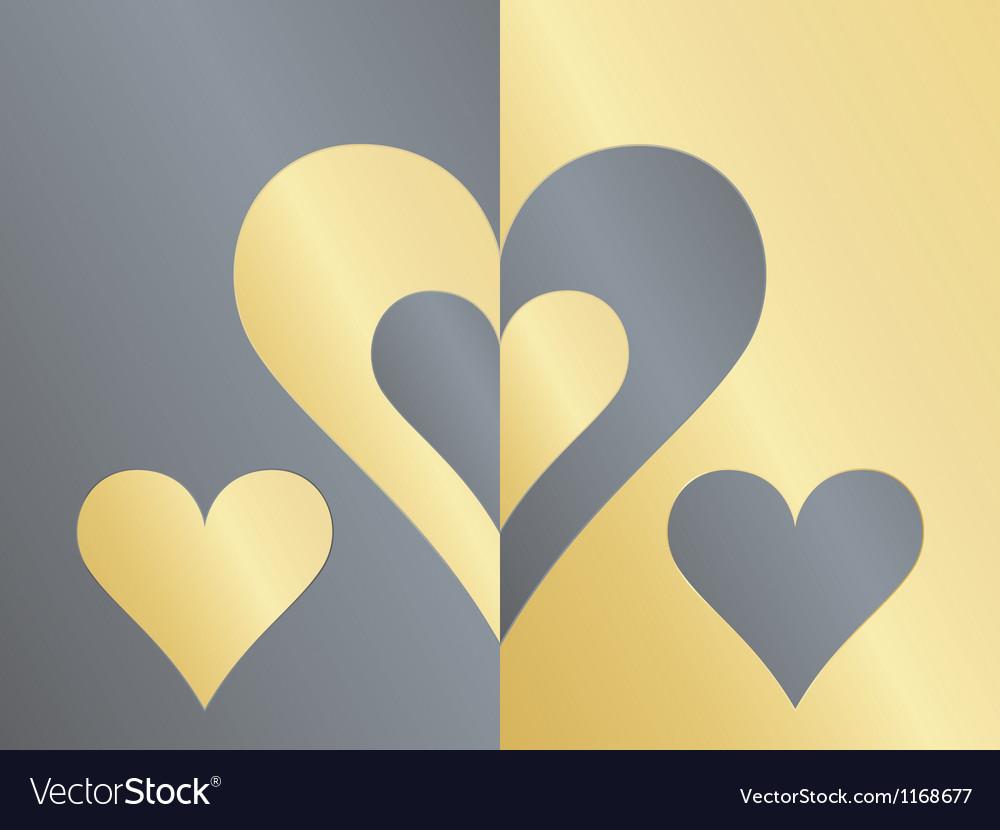 Yin yang hearts vector image