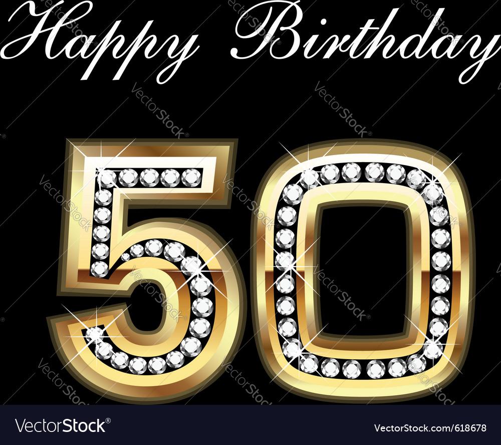50th Birthday Royalty Free Vector Image