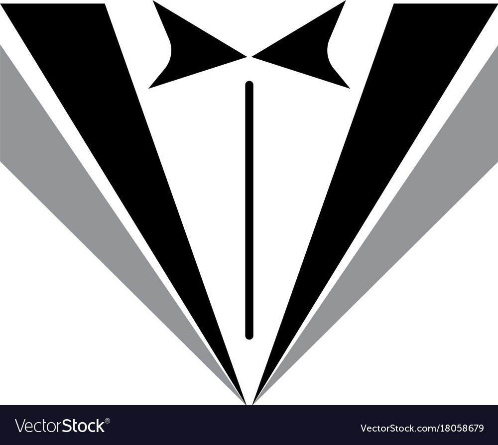 Tuxedo man logo and symbols black icons template Vector Image