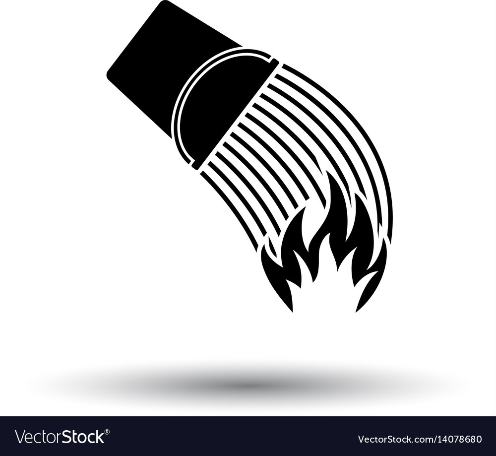 Fire bucket icon vector image