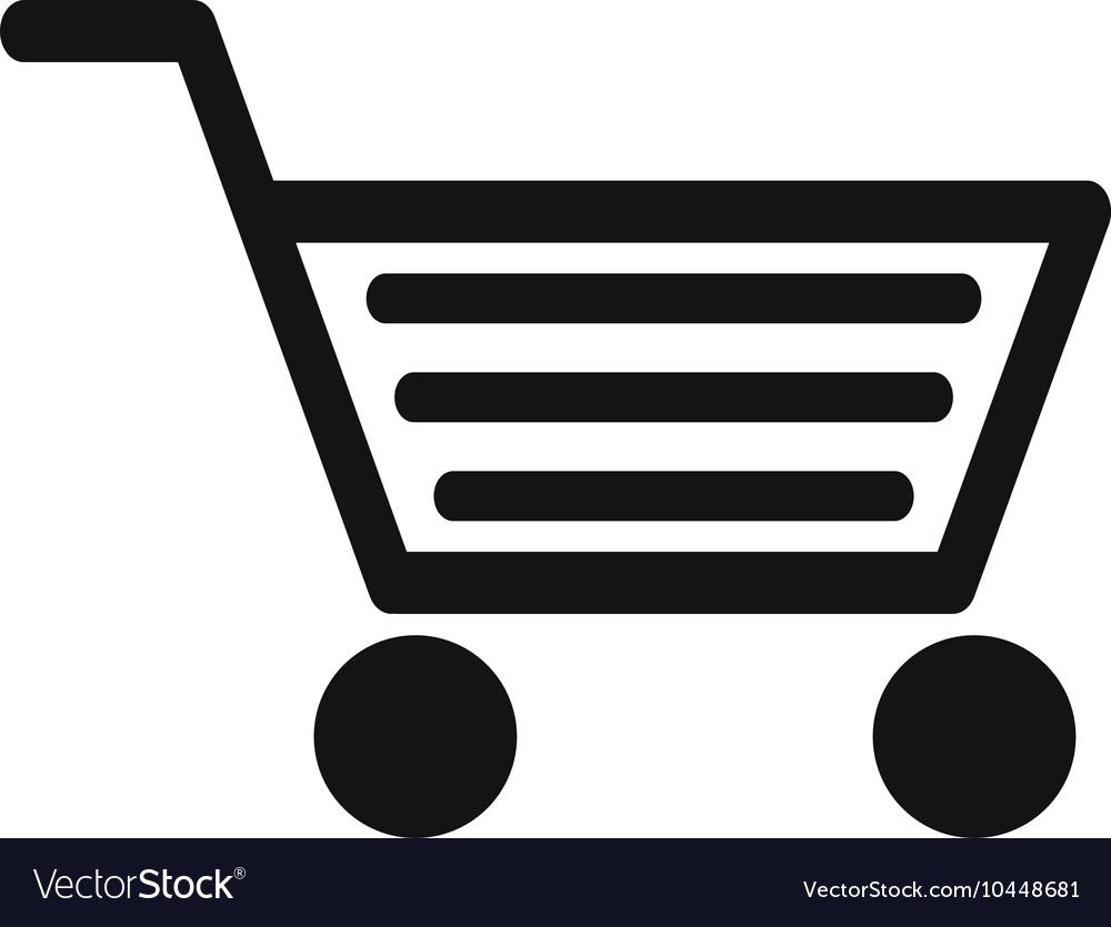 abstract shopping cart icon royalty free vector image rh vectorstock com shopping cart flat icon vector shopping cart icon vector png