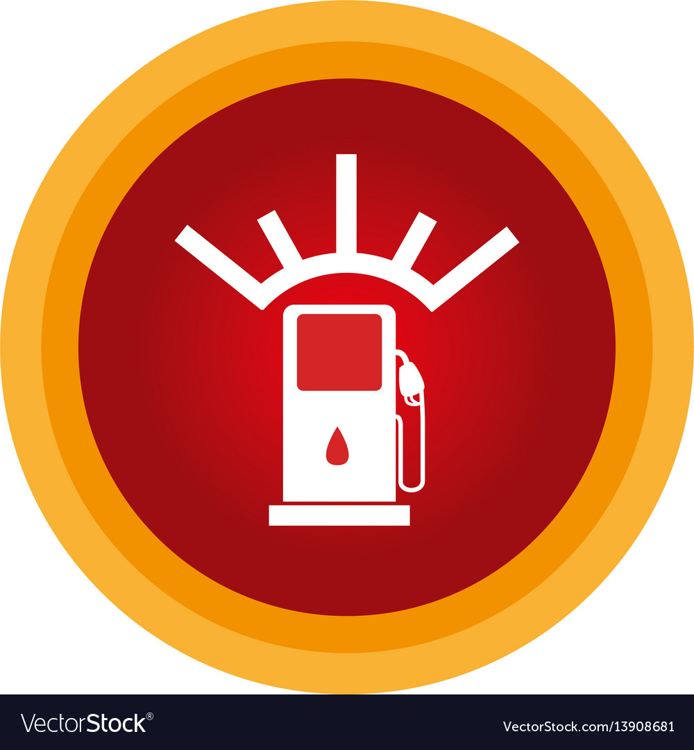 Colorful circular frame with fuel indicator vector image