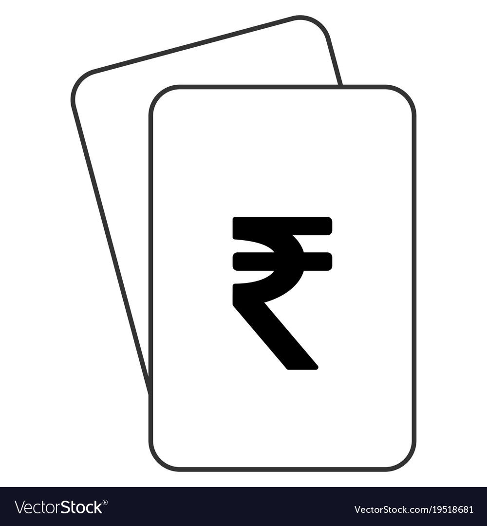 Indian rupee playing cards royalty free vector image indian rupee playing cards vector image biocorpaavc Choice Image