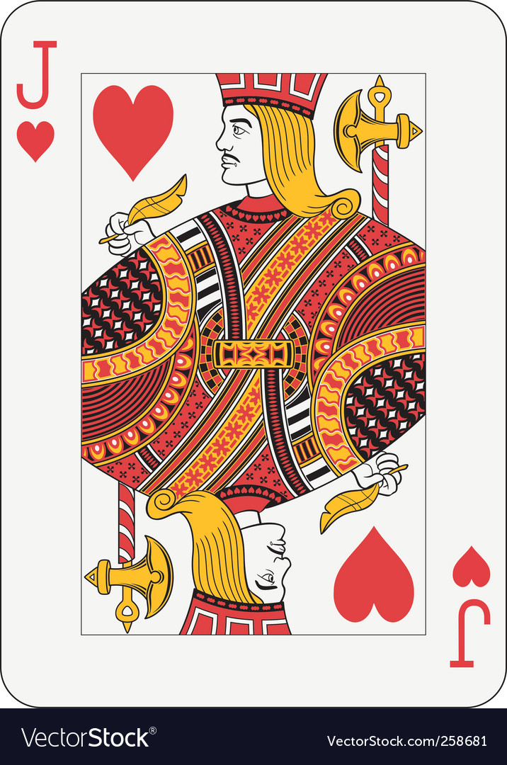 Jack of hearts vector image