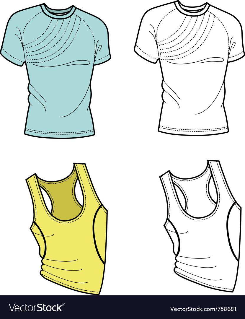 Men t-shirt and football shirt vector image