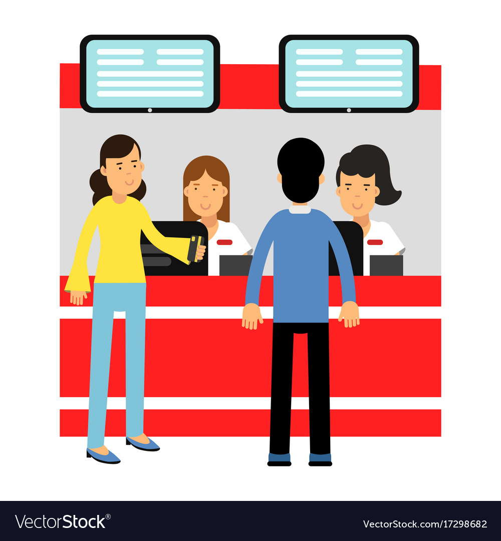 people buying tickets at counter in the cinema vector image movie tickets clip art free movie ticket clip art carnival