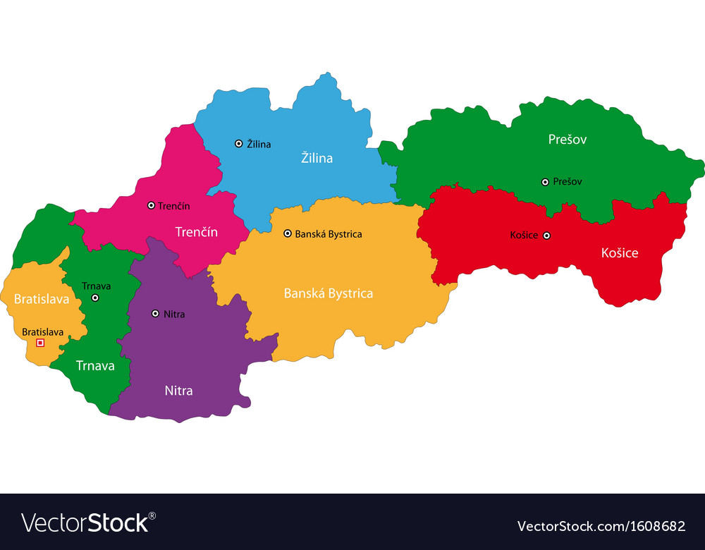 Slovakia map Royalty Free Vector Image VectorStock