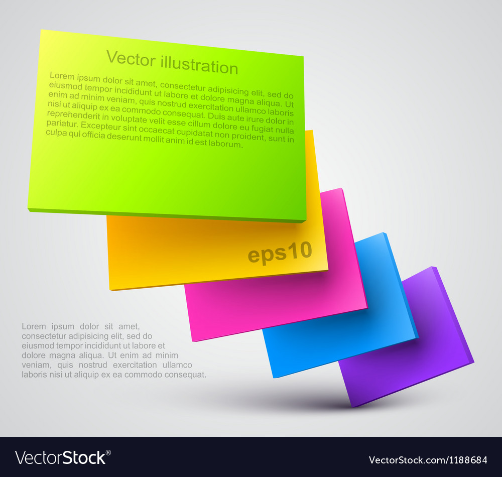 Colorful plates 3D vector image