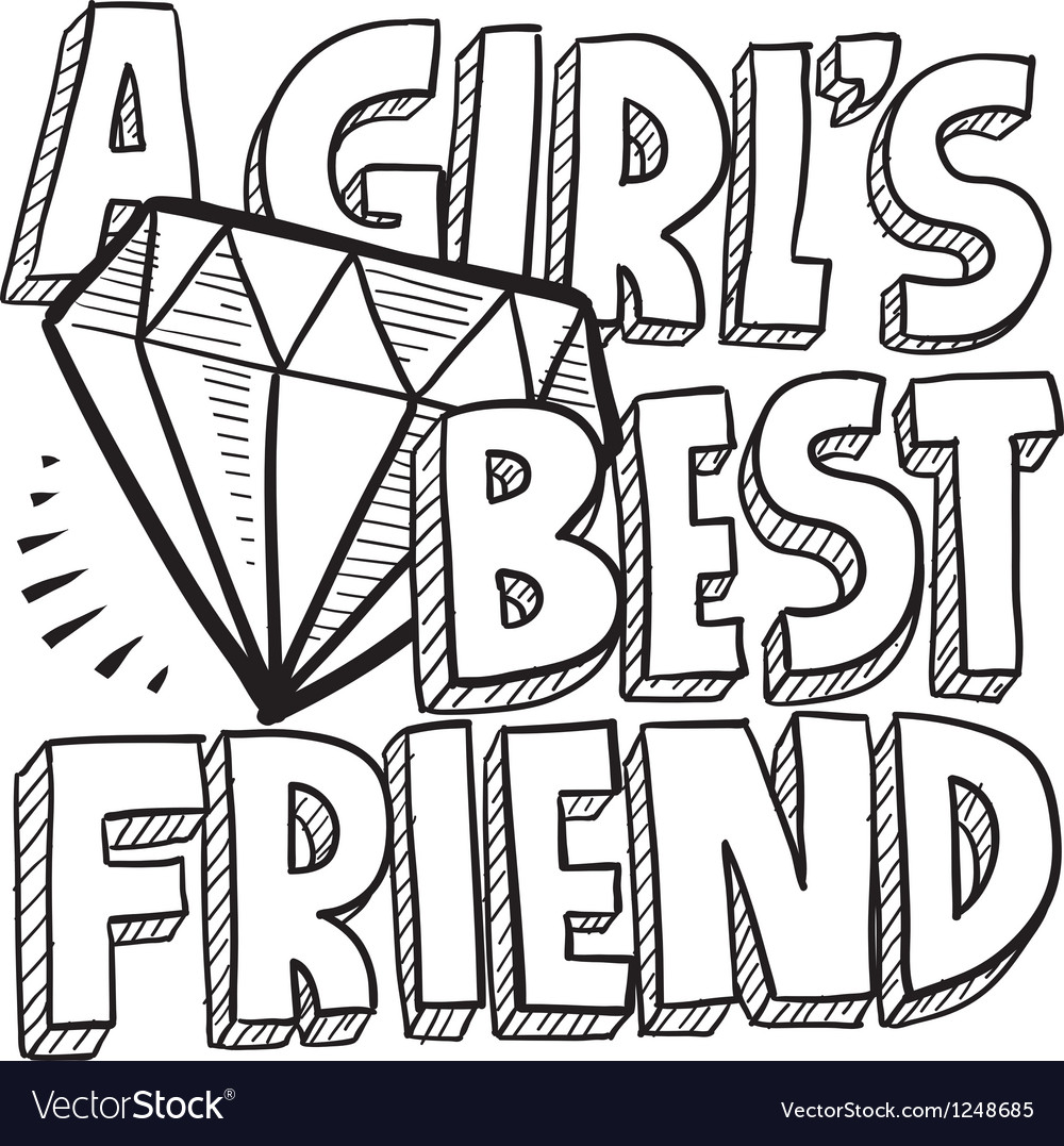 Diamonds are a girls best friend vector image