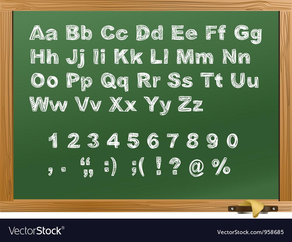 Wood school desk vector image