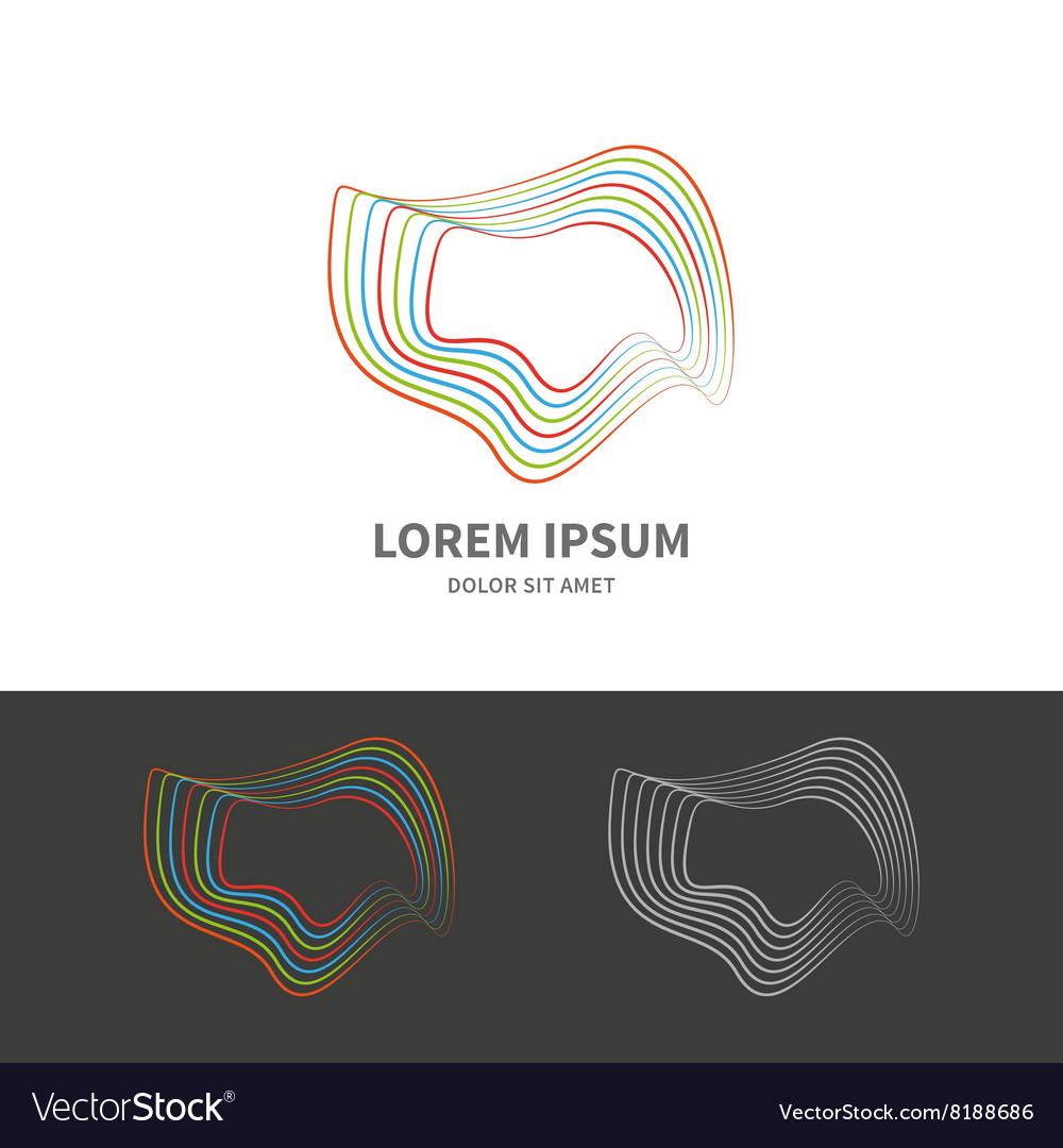 Circle wave logo design vector image