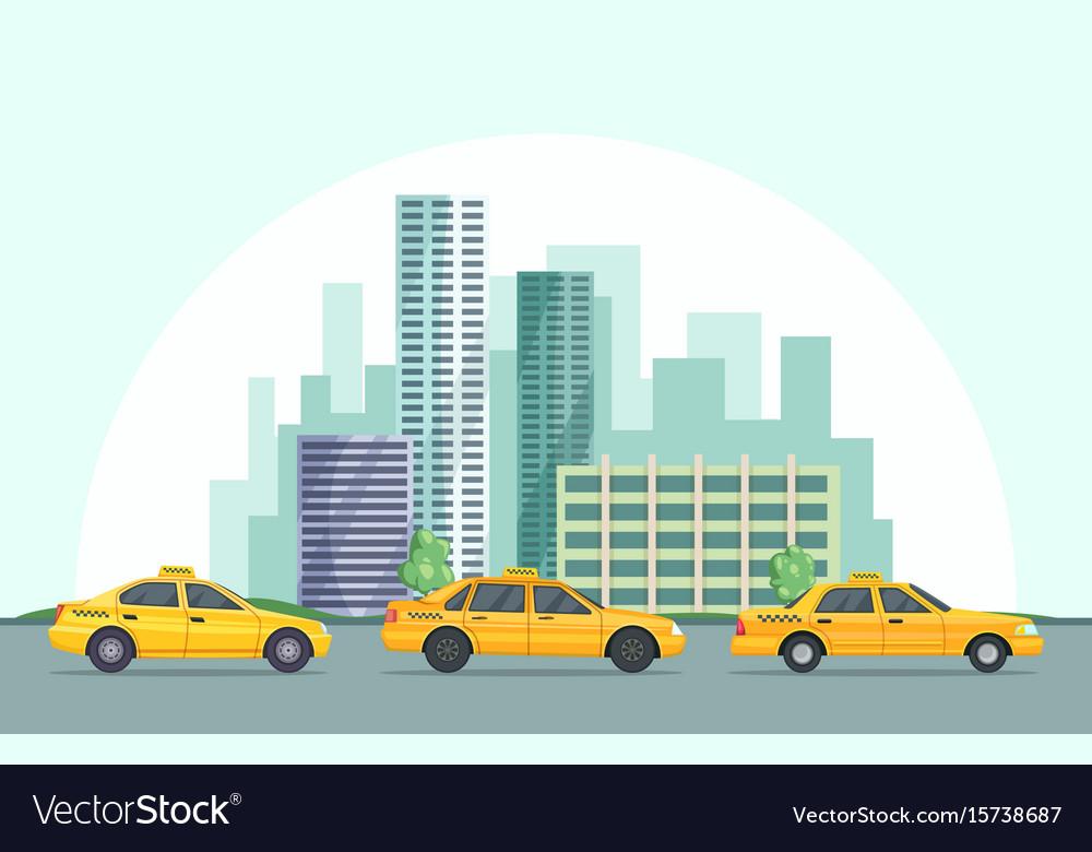 Background of modern urban vector image