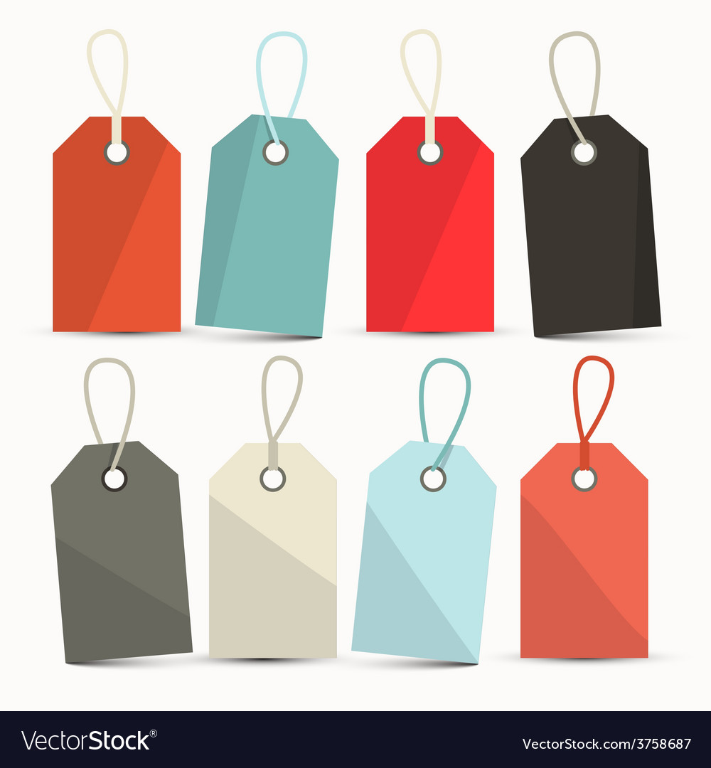 Set of Labels Tags with Strings vector image