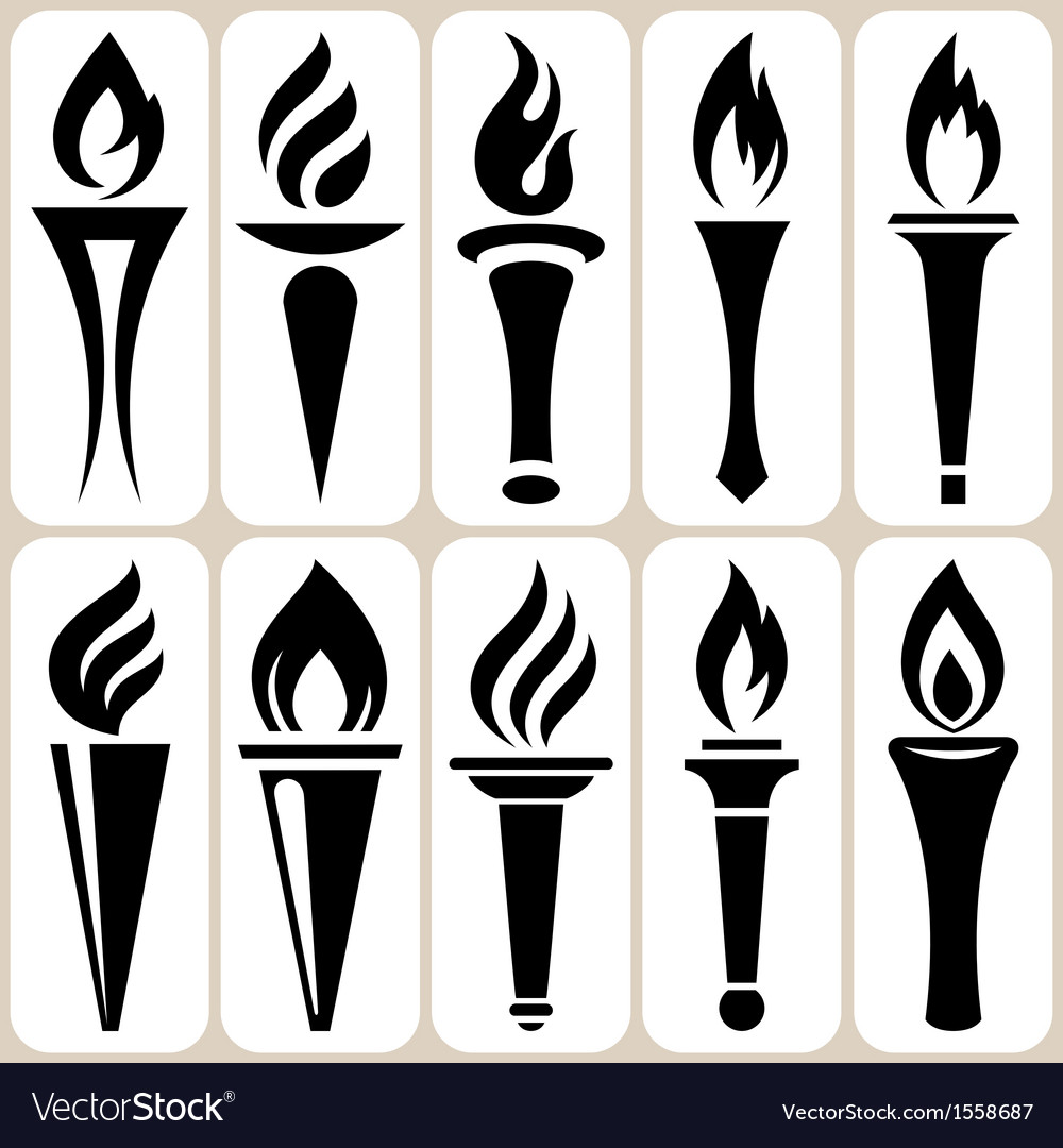 Torch set vector image