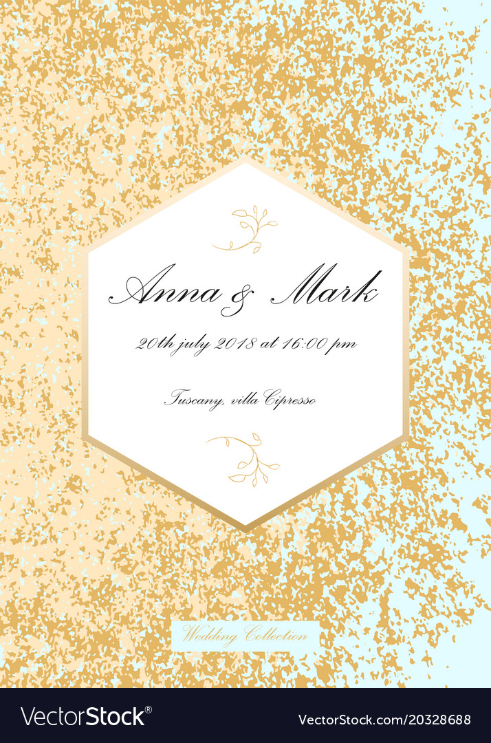 Glitter wedding invitation royalty free vector image glitter wedding invitation vector image stopboris Images
