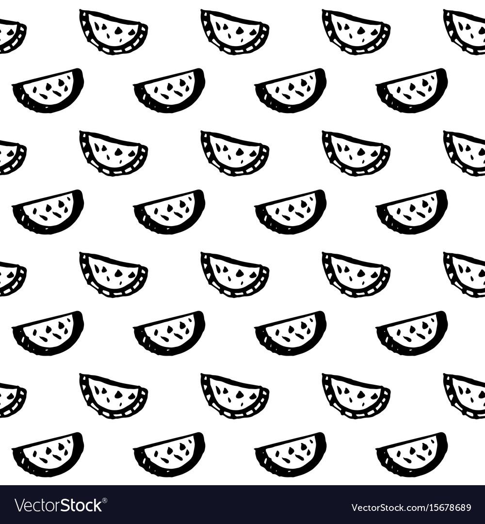 Watermelon seamless pattern vector image