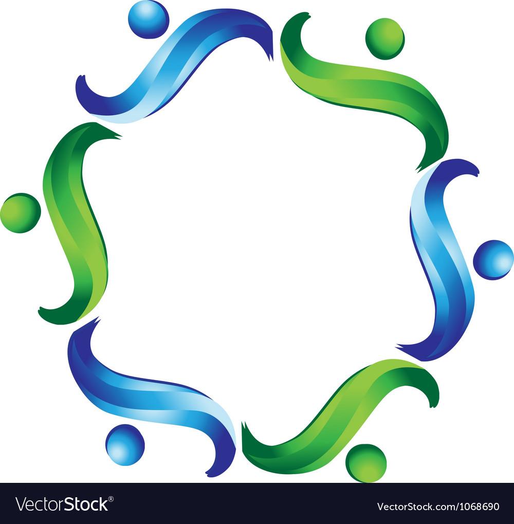 Team non profit logo vector image