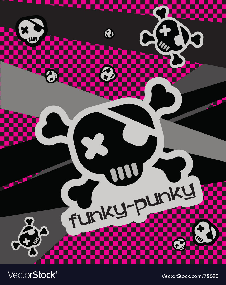 Funky-punkie illustration vector image