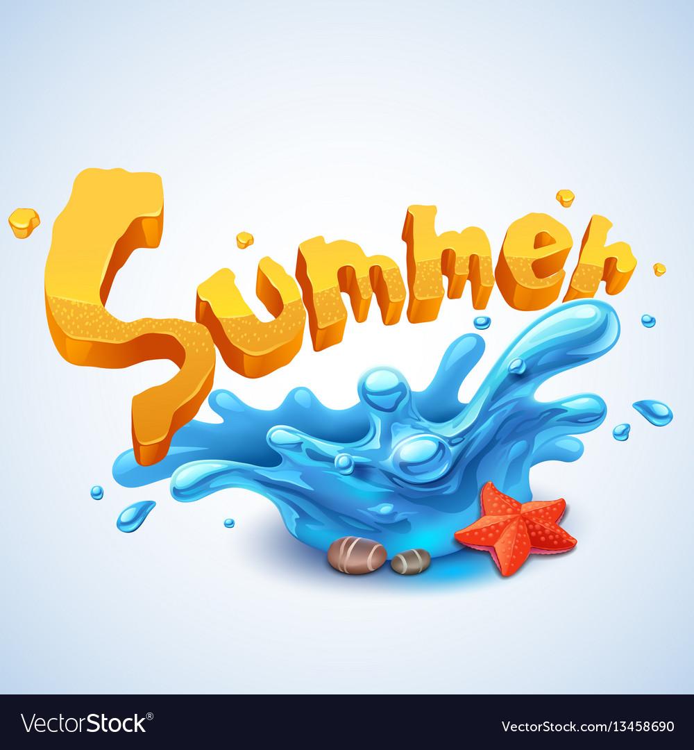 Summer splash vector image