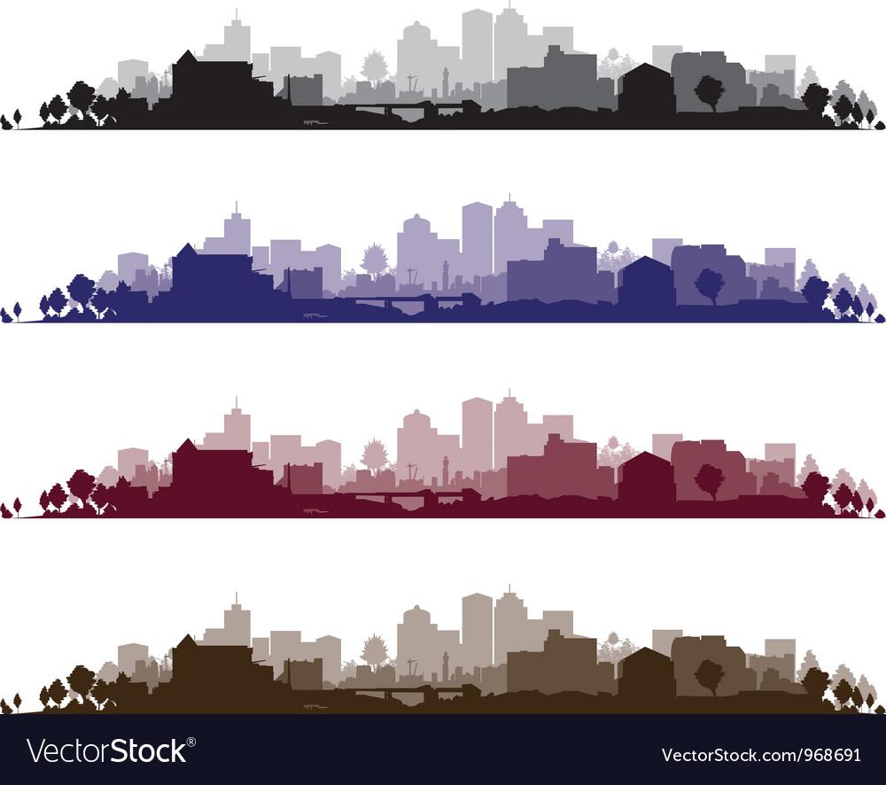 Cityscape wide set vector image