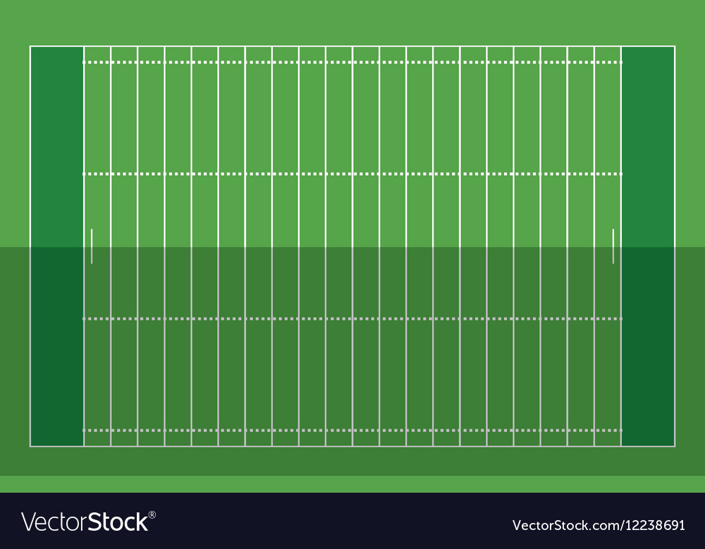 Field american football grass vector image