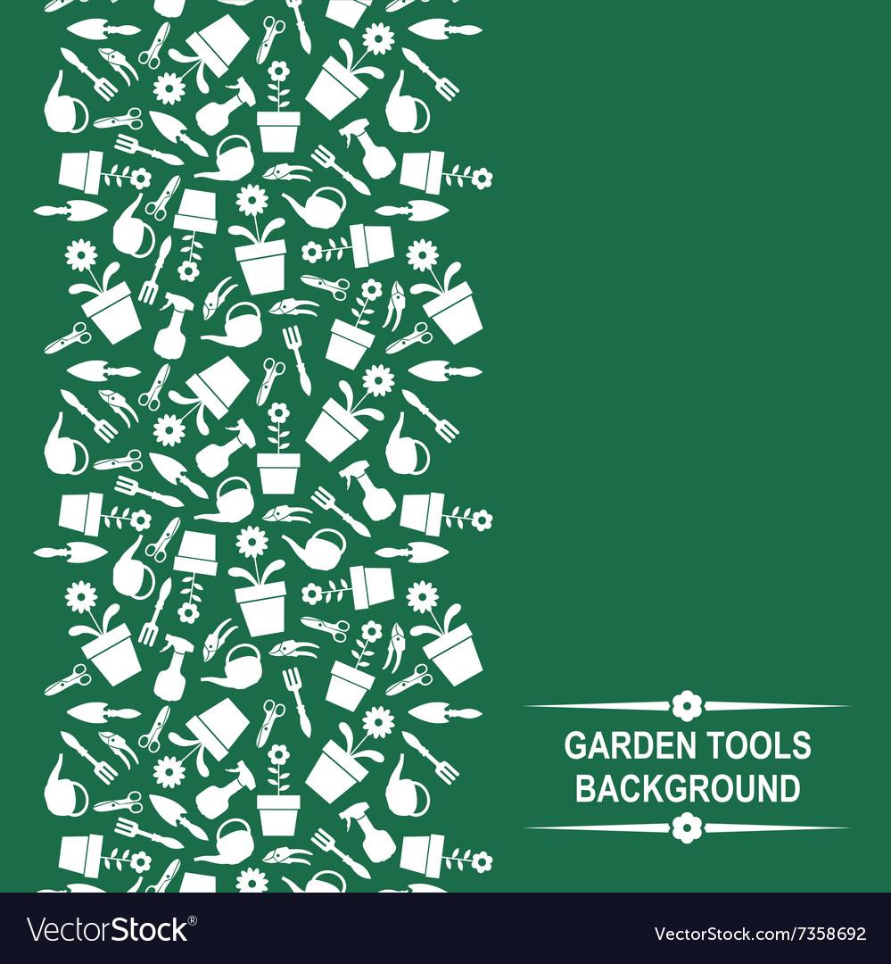 Garden card vertical vector image