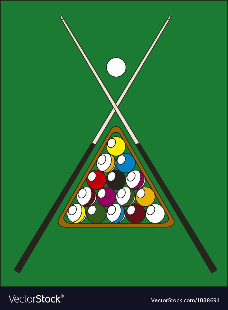 Billiard pool vector image