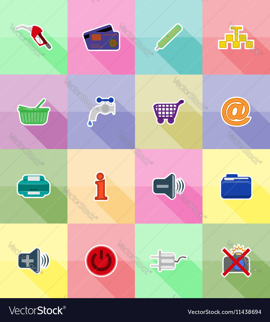 Service flat icons 38 vector image