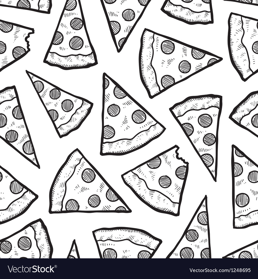 pizza pattern royalty free vector image