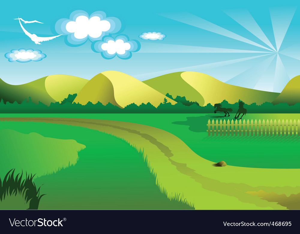 Background nature vector art download field vectors 468695 - Background images nature ...