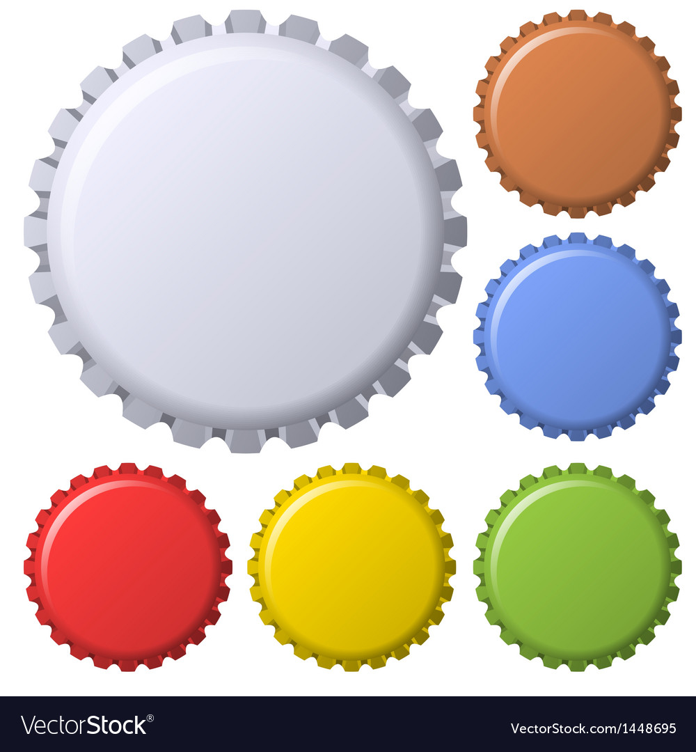 Vintage Bottle Caps vector image