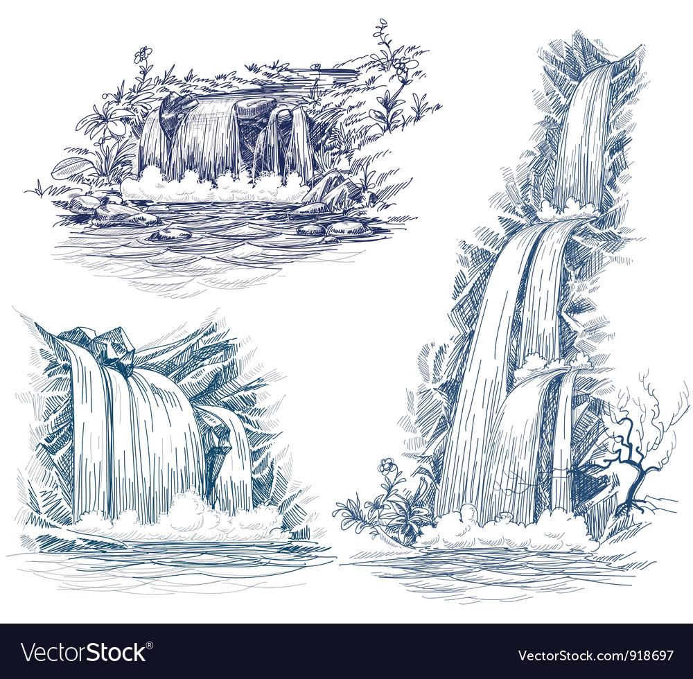 Water fall Vector Image