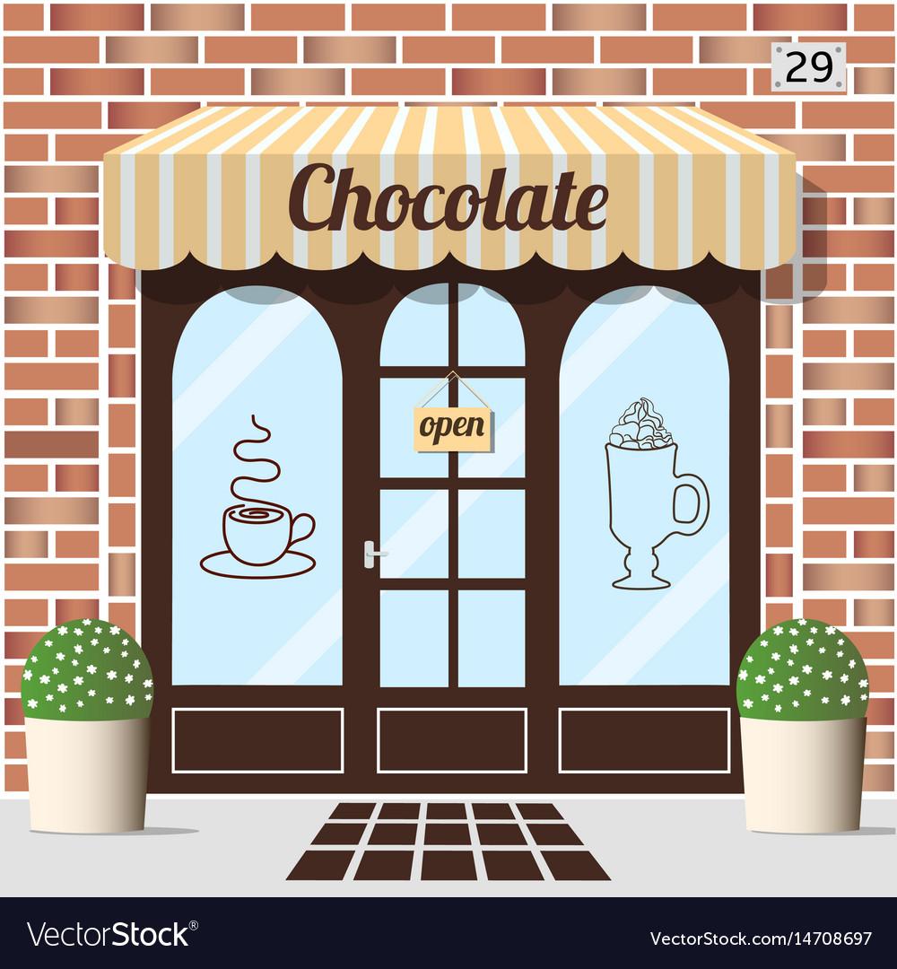 Chocolate shop facade vector image