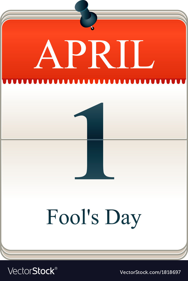 Fools Day vector image