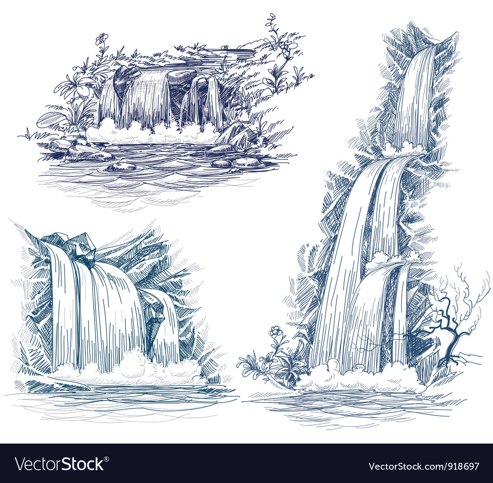 Water fall vector image