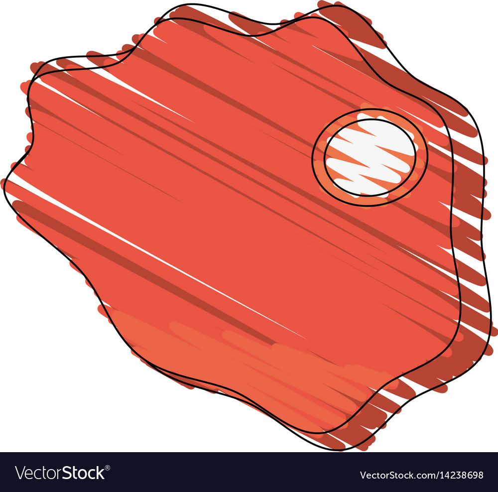 Drawing beef food image vector image