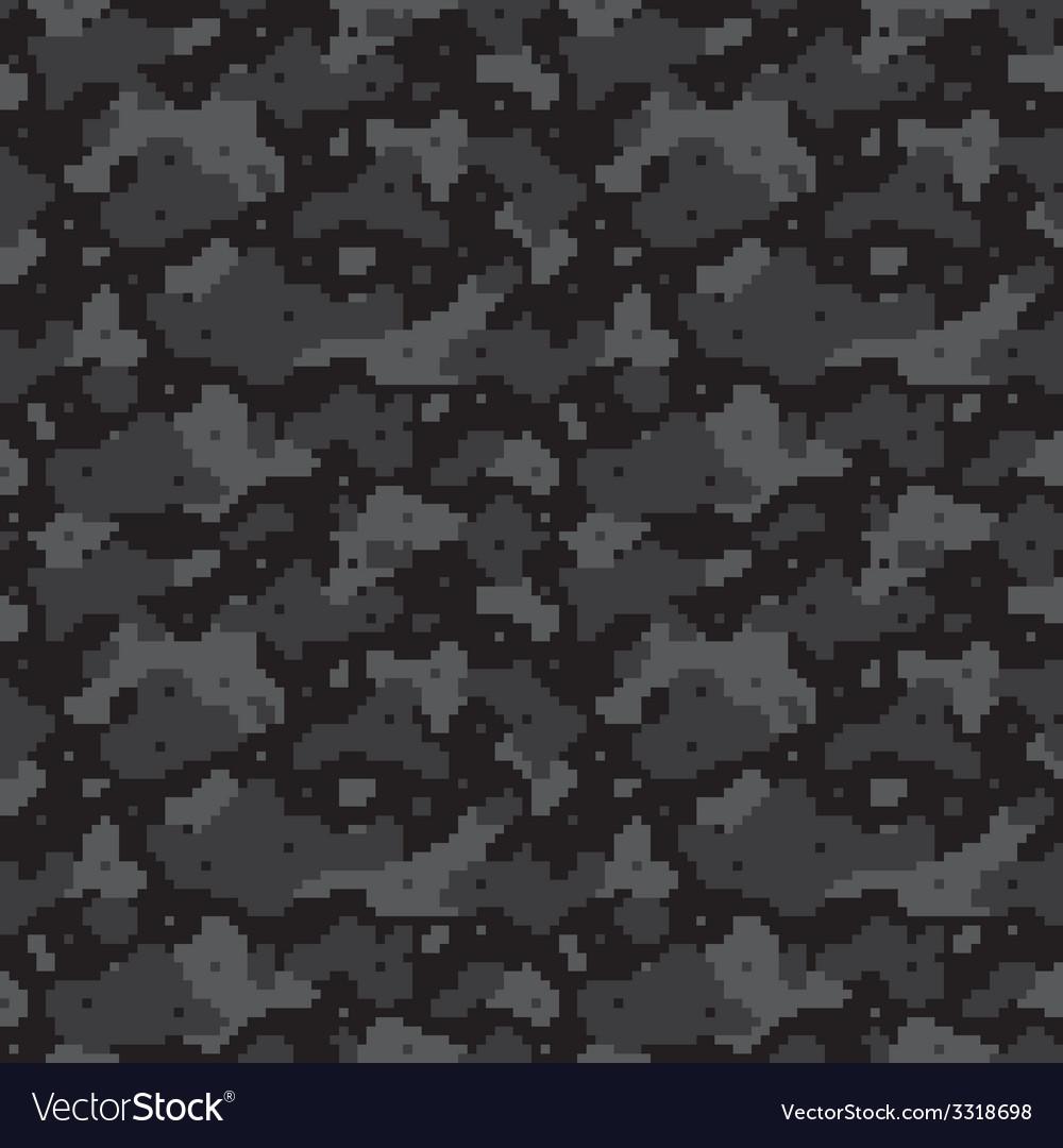 Pixel camo black vector image