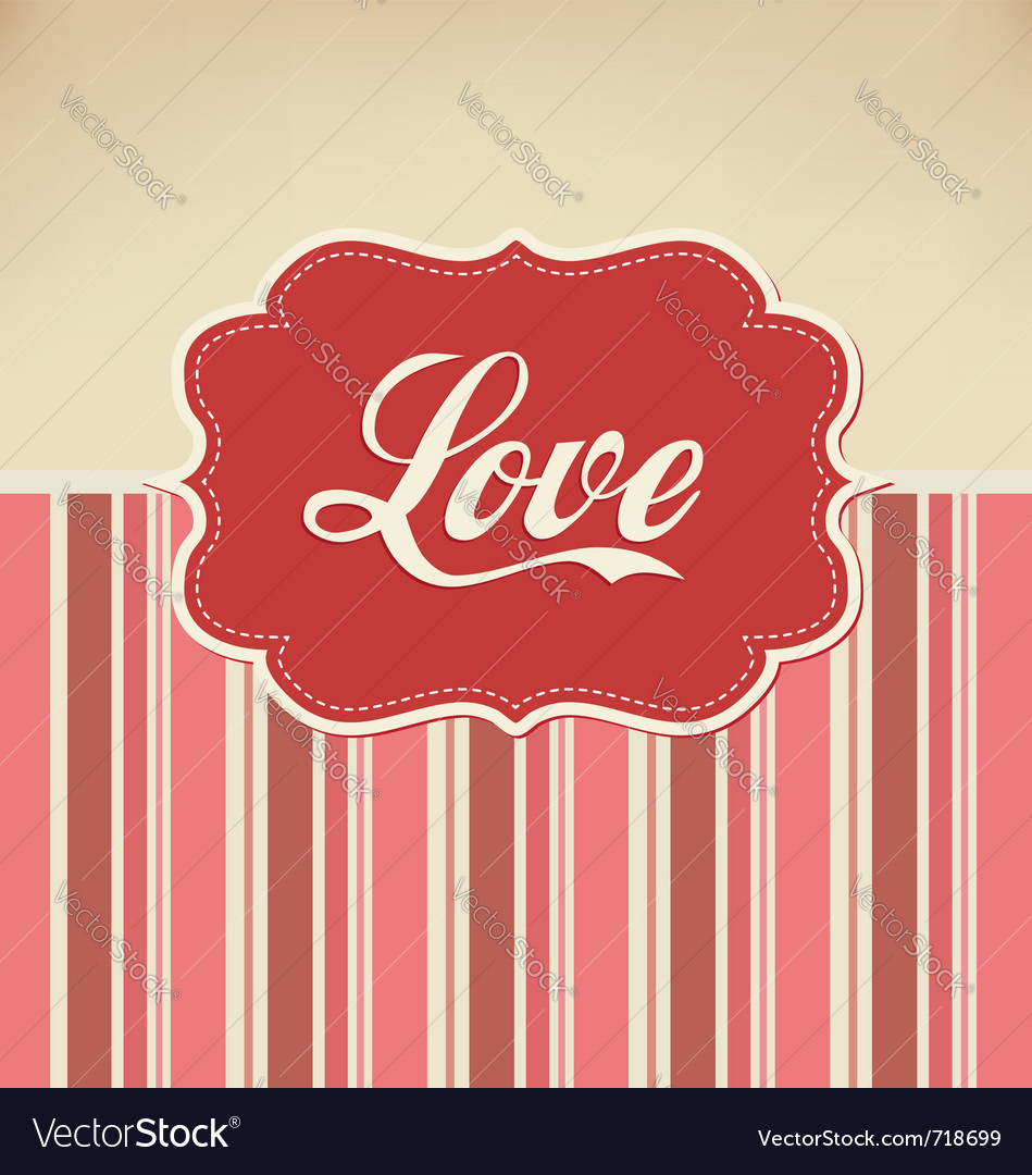 Retro love Vector Image