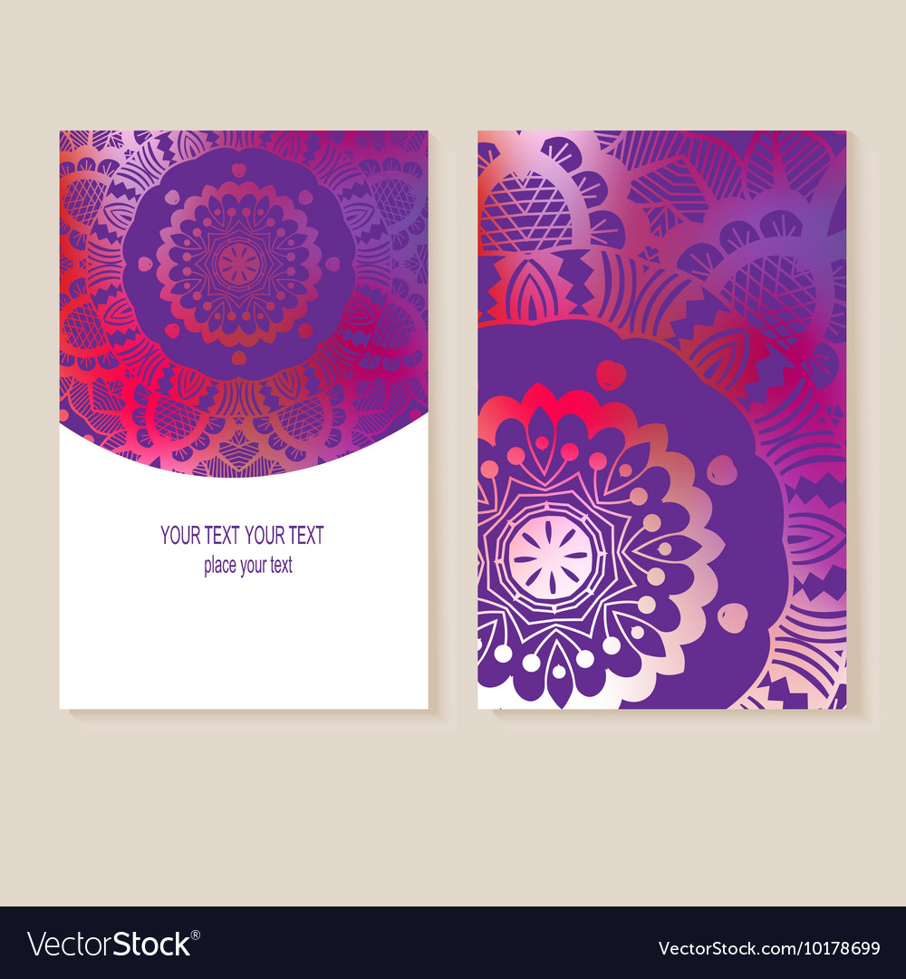 Card with geometric designs vector image