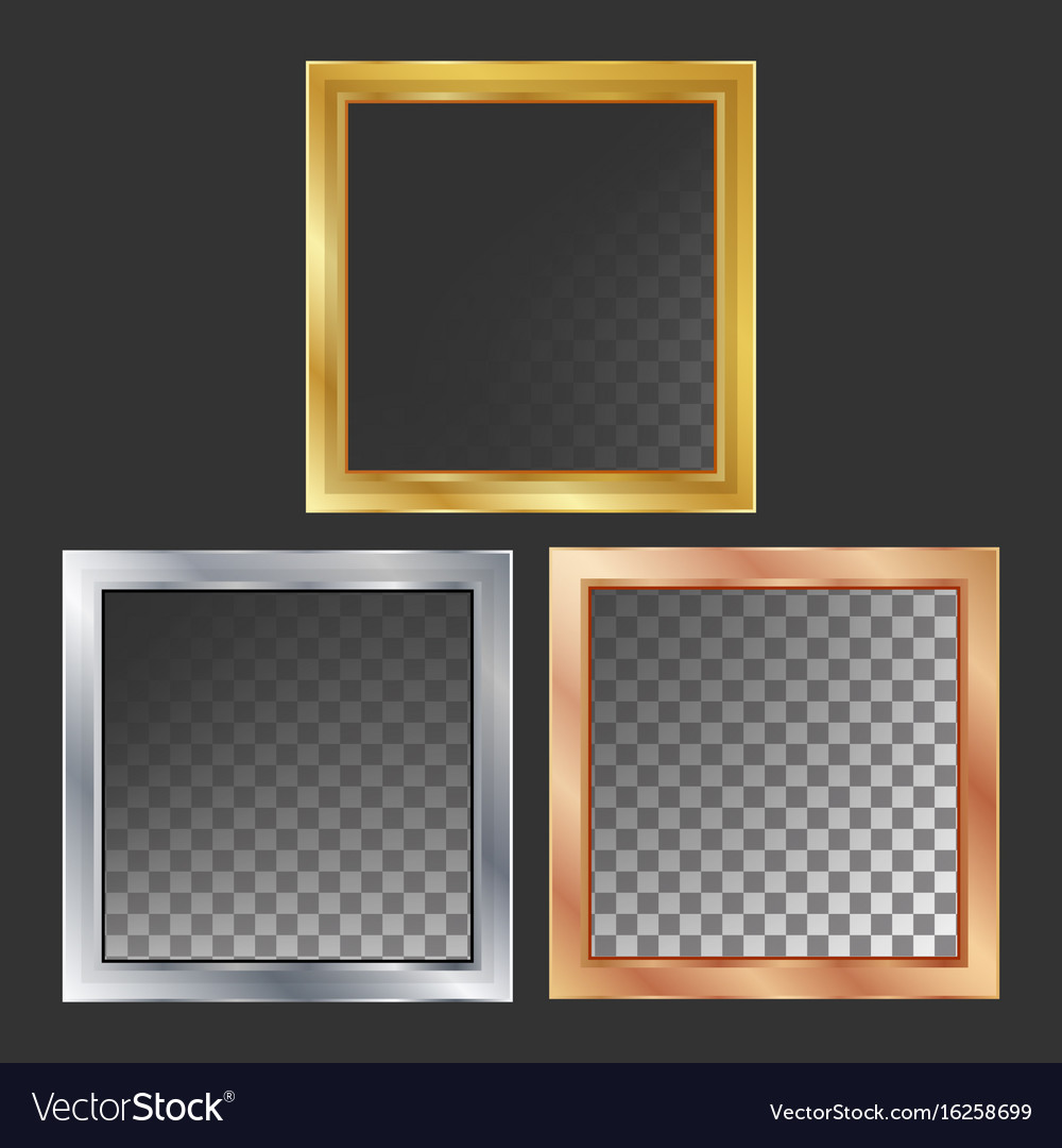 Gold silver bronze copper metal frames royalty free vector gold silver bronze copper metal frames vector image jeuxipadfo Gallery
