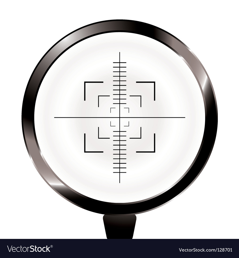 Hunters and target vector image