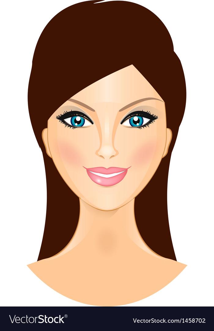 Beautiful smiling woman vector image