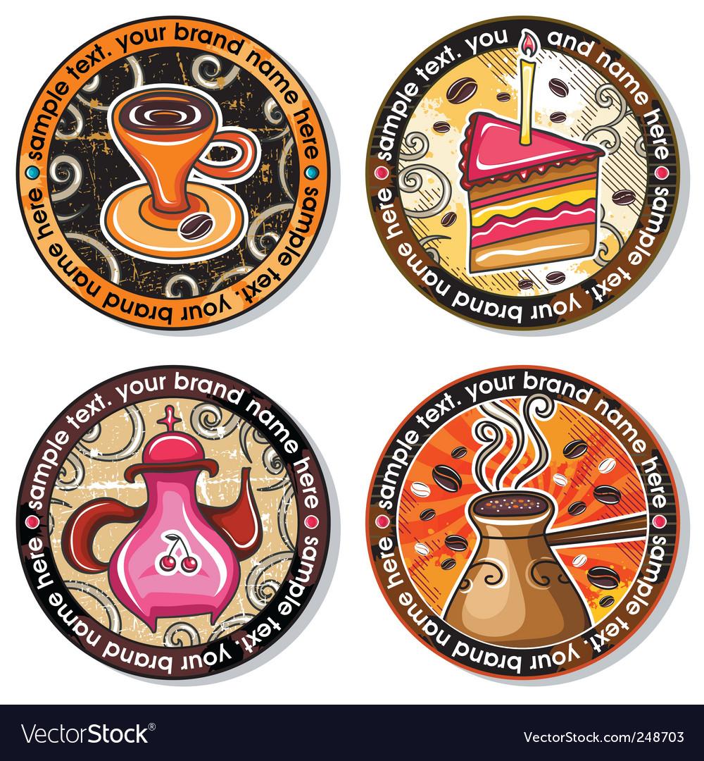 Coffee tea drink coasters Vector Image