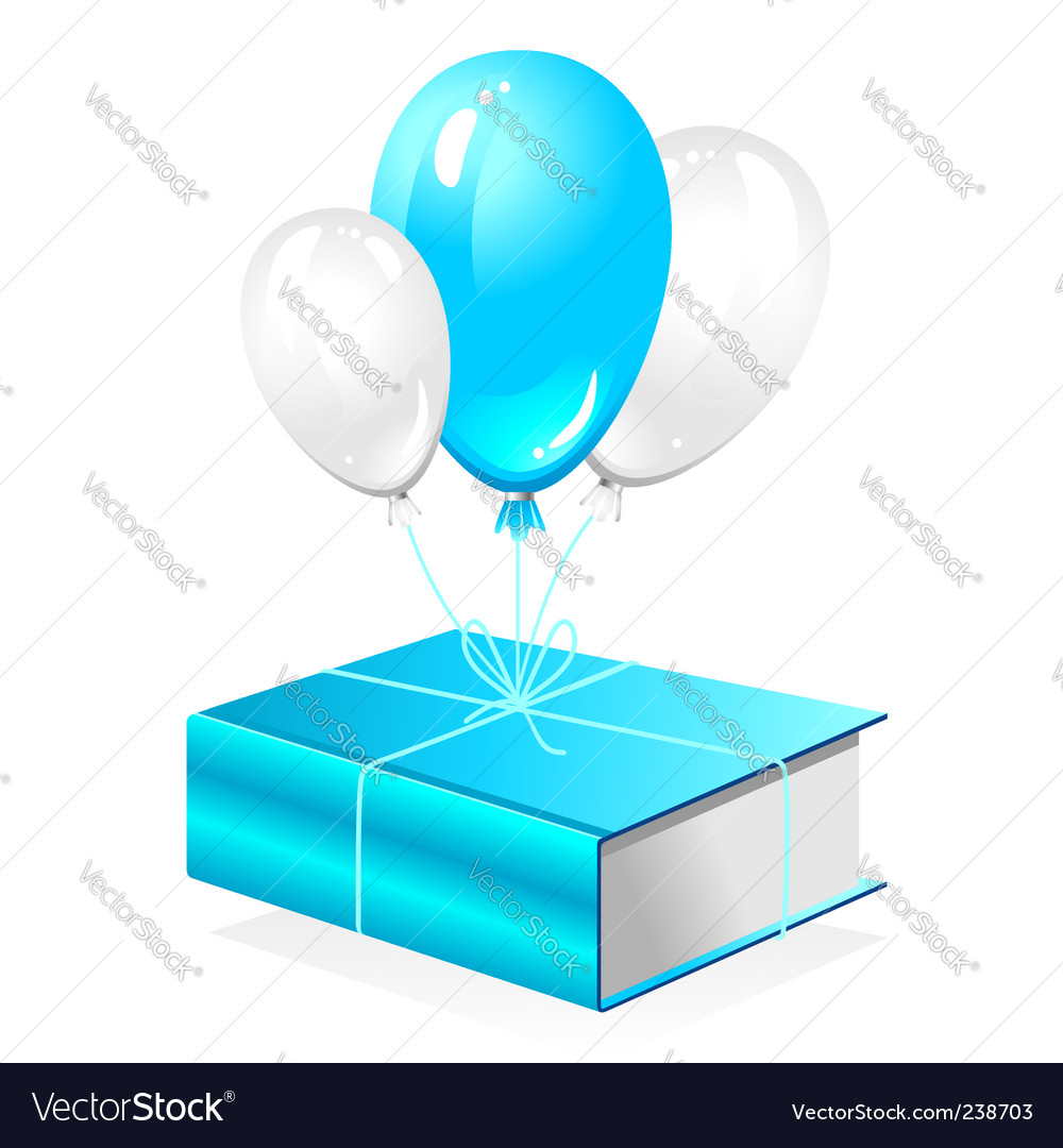 Thick book on balloon vector image